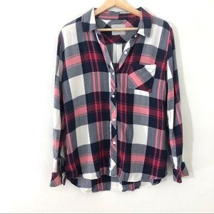 Rails Hunter Plaid Button Down Long Sleeve Top